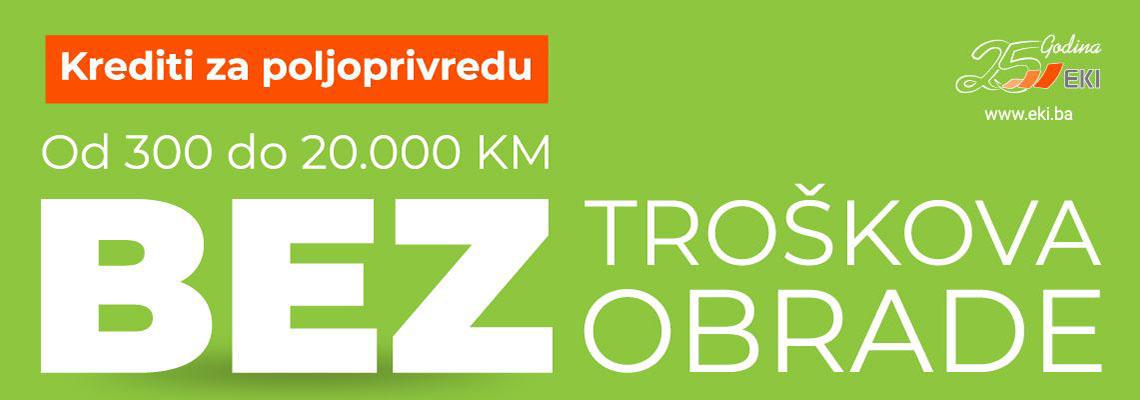 Kontaktirajte nas - Krediti za poljoprivredu od 300 do 20.000 KM bez troškova obrade
