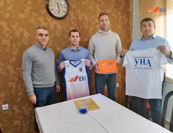 "Donation of Jerseys to Basketball Club ""Una"", Kozarska Dubica"
