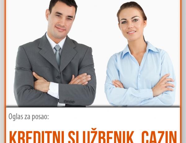 Posao u EKI-ju: Kreditni službenik za područje Cazina