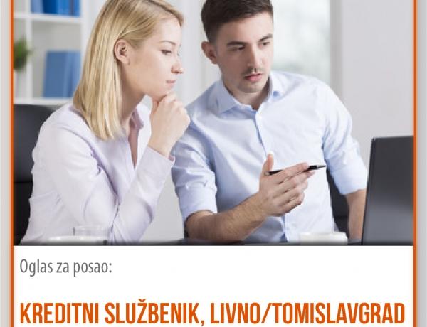 Posao u EKI-ju: Kreditni službenik za područje Livna ili Tomislavgrada