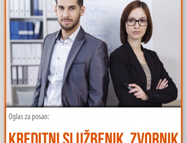 Posao u EKI-ju: Kreditni službenik za područje Zvornika