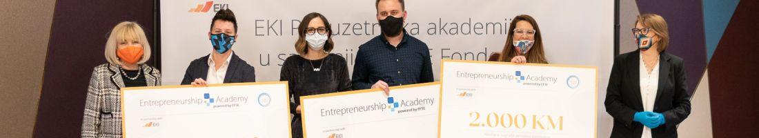 Saudin Dedić, Almedina Ždralović i Aida Kosović pobjednici/e pitch takmičenja EKI Poduzetničke akademije u saradnji sa EFSE Fondom