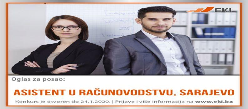Asistent u računovodstvu – Sarajevo