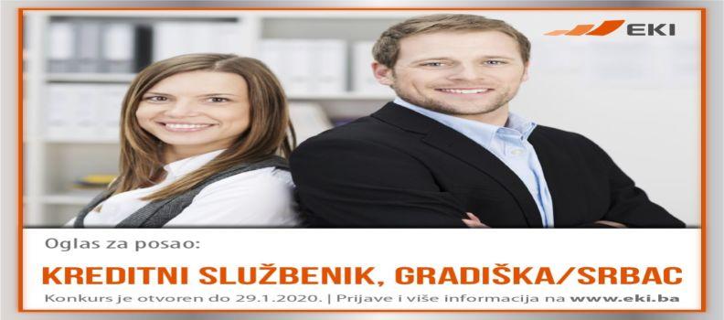 Kreditni službenik – Gradiška/Srbac