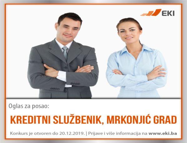 Kreditni službenik – Mrkonjić Grad