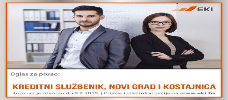 Kreditni službenik – Novi Grad/Kostajnica