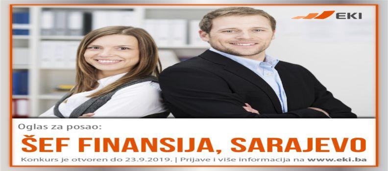 Šef finansija – Sarajevo