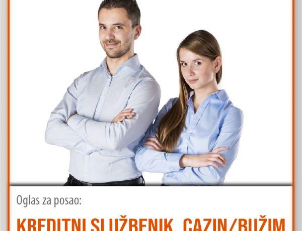 Kreditni službenik – Cazin/Bužim