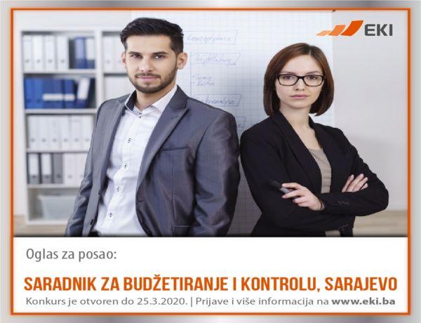 Saradnik za budžetiranje i kontrolu, Sarajevo