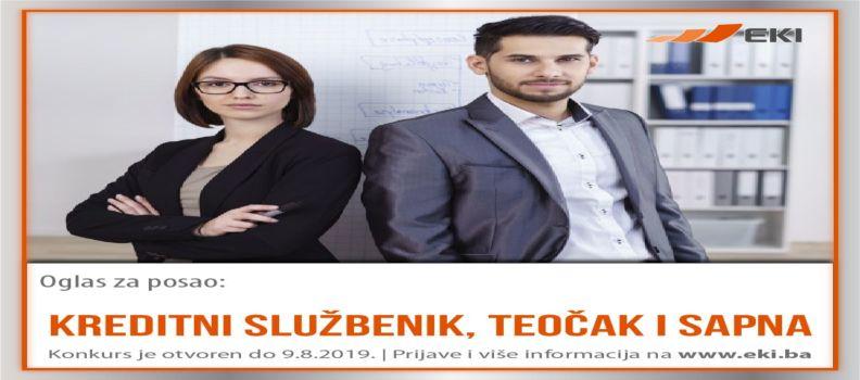 Kreditni službenik – Teočak i Sapna