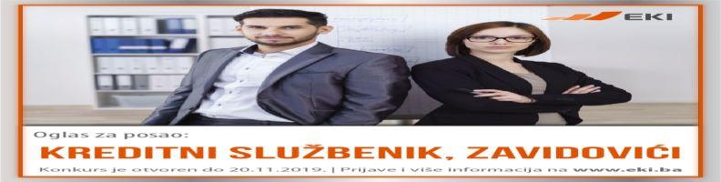 Kreditni službenik – Zavidovići