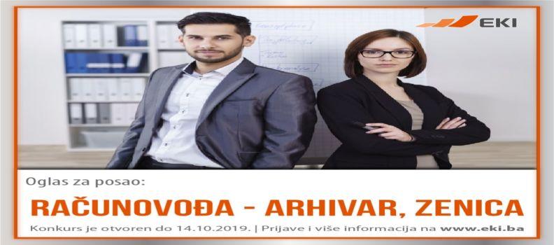 Računovođa – arhivar, Zenica